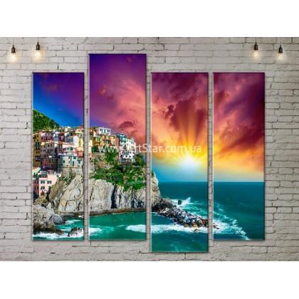 Модульные Картины, Морской пейзаж, Art. SEAA777111