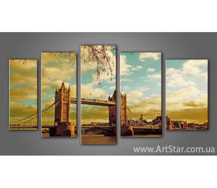 Модульная картина Панорама Лондона (5) 2