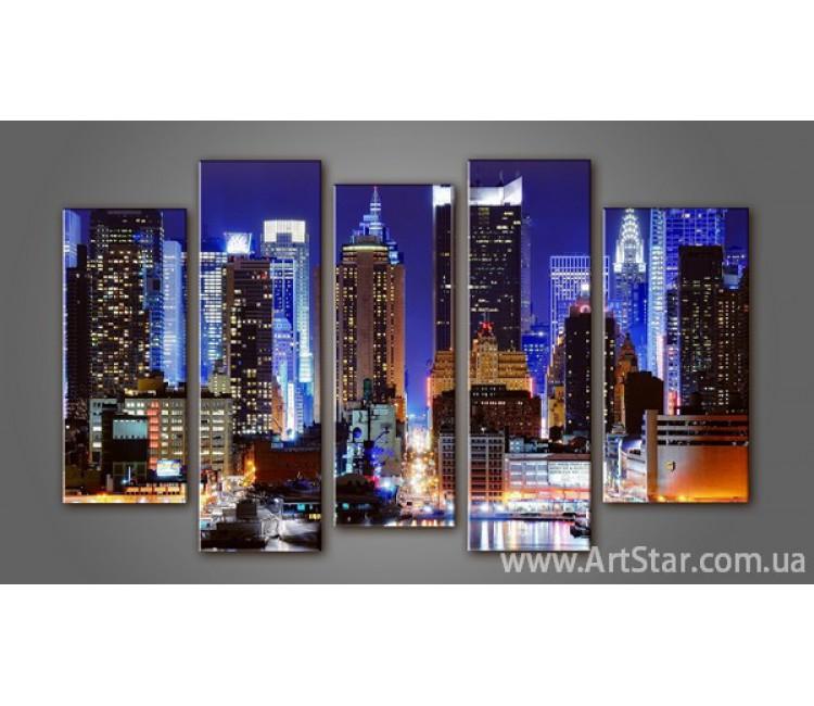 Модульная картина Панорама города (5)