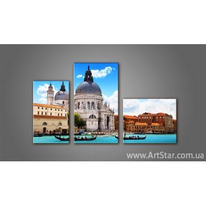 Модульная картина Панорама города Венеция