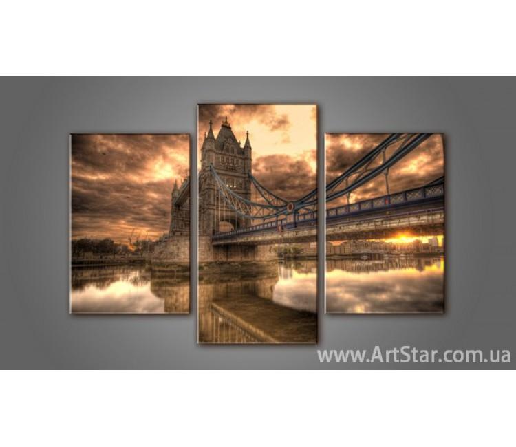 Модульная картина Панорама города Лондон 2