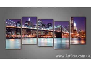 Модульная картина Бруклинский мост (5)