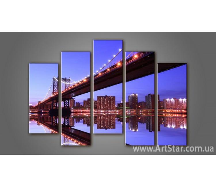 Модульная картина Бруклинский мост (5) 2