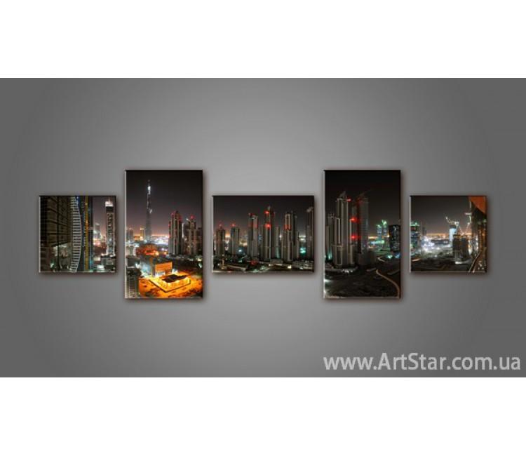 Модульная картина Панорама города (5) 2