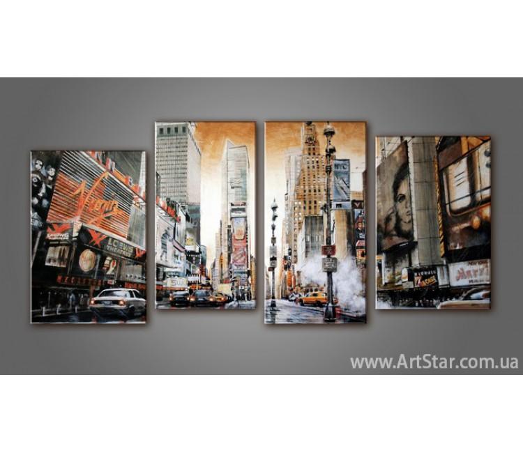 Модульная картина Панорама New York (4) 2