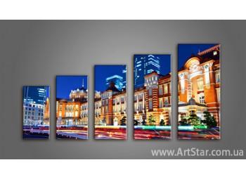 Модульная картина Панорама города (5) 3