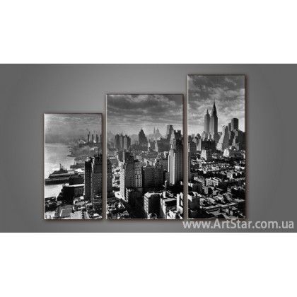 Модульная картина Панорама города 4