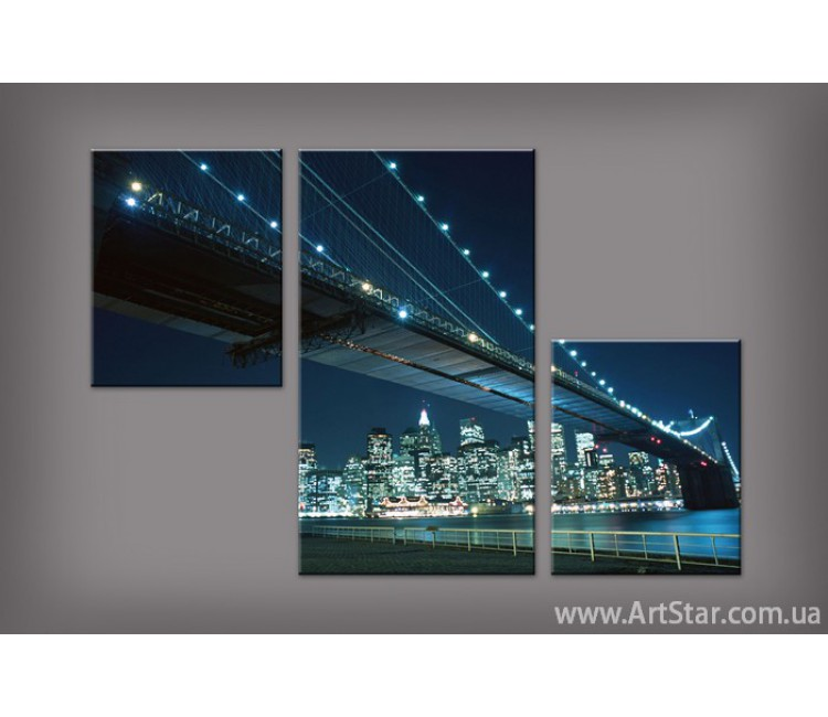 Модульная картина Бруклинский мост 3