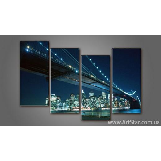 Модульная картина Бруклинский мост (4) 3