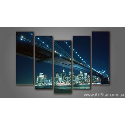 Модульная картина Бруклинский мост (5) 3