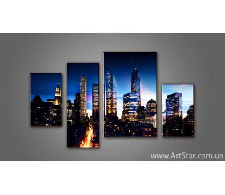 Модульная картина Панорама города (4) 5