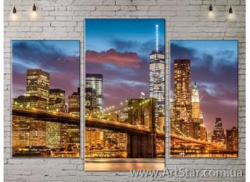 Модульные Картины, Город, Art. SITY787149
