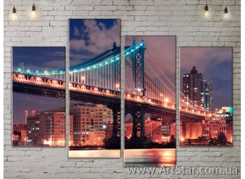 Модульные Картины, Город, Art. SITY787181