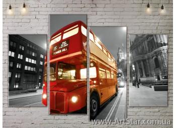 Модульные Картины, Город, Art. SITY787211