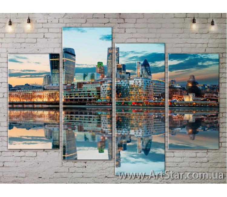 Модульные Картины, Город, Art. SITY787233