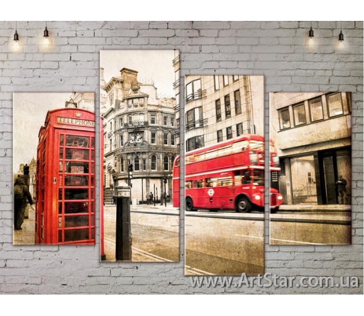 Модульные Картины, Город, Art. SITY787243