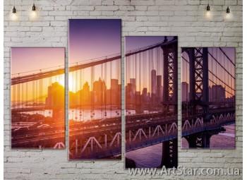 Модульные Картины, Город, Art. SITY787251