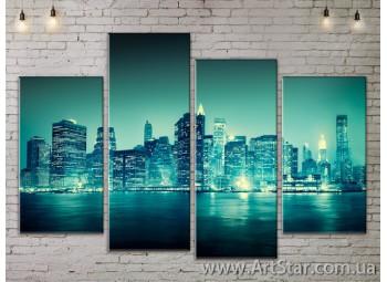 Модульные Картины, Город, Art. SITY787259