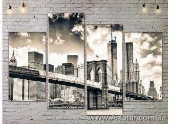 Модульные Картины, Город, Art. SITY787261