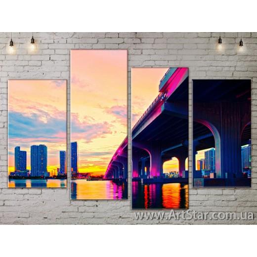 Модульные Картины, Город, Art. SITY787291