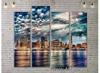 Модульные Картины, Город, Art. SITY787339