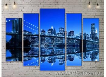 Модульные Картины, Город, Art. SITY787350