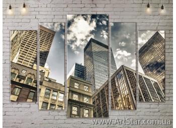 Модульные Картины, Город, Art. SITY787364
