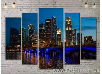 Модульные Картины, Город, Art. SITY787410