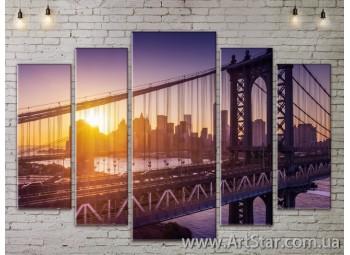 Модульные Картины, Город, Art. SITY787422