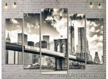 Модульные Картины, Город, Art. SITY787432