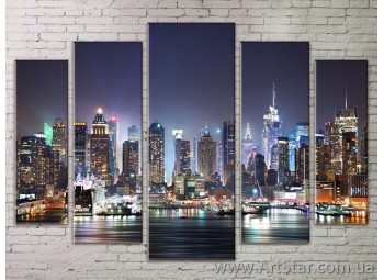 Картина Модульная Город, Art. STRM778005