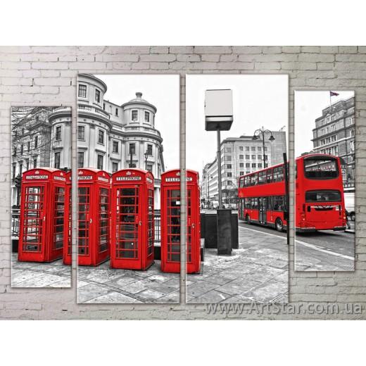 Картина Модульная Город, Art. STRM778015