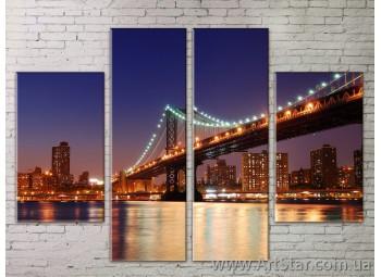 Картина Модульная Город, Art. STRM778065