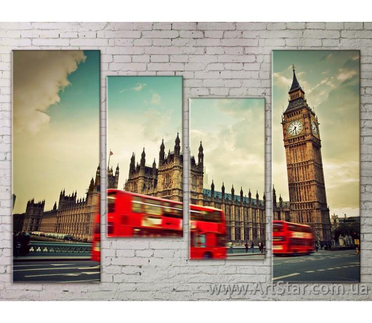 Картина Модульная Город, Art. STRM778091