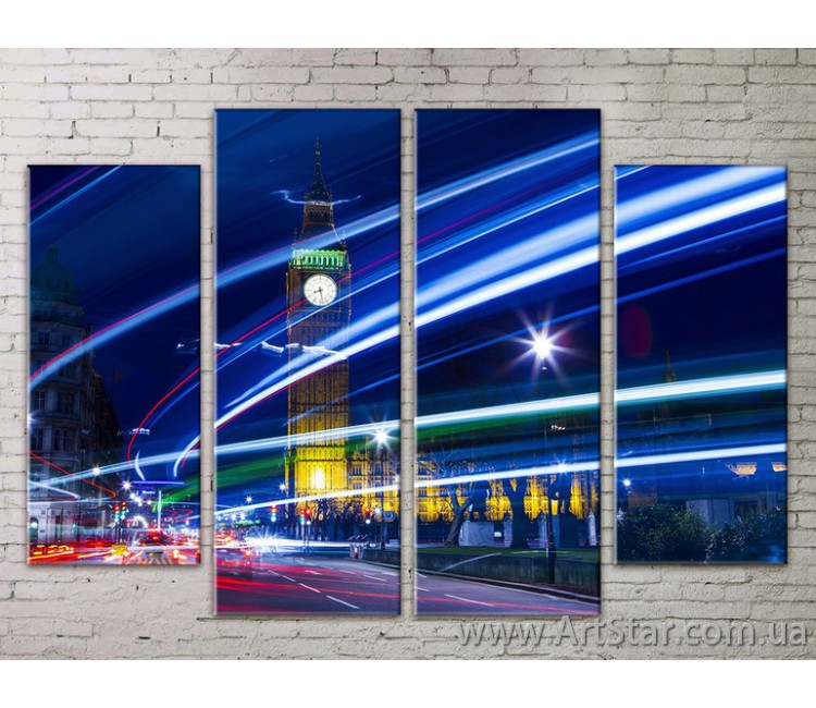 Картина Модульная Город, Art. STRM778101