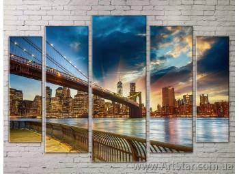 Картина Модульная Город, Art. STRM778117