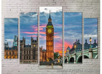 Картина Модульная Город, Art. STRM778125