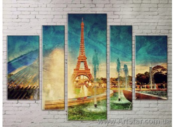 Картина Модульная Город, Art. STRM778133