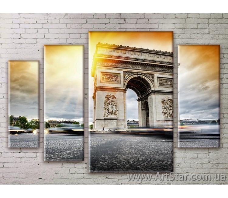 Картина Модульная Город, Art. STRM778225