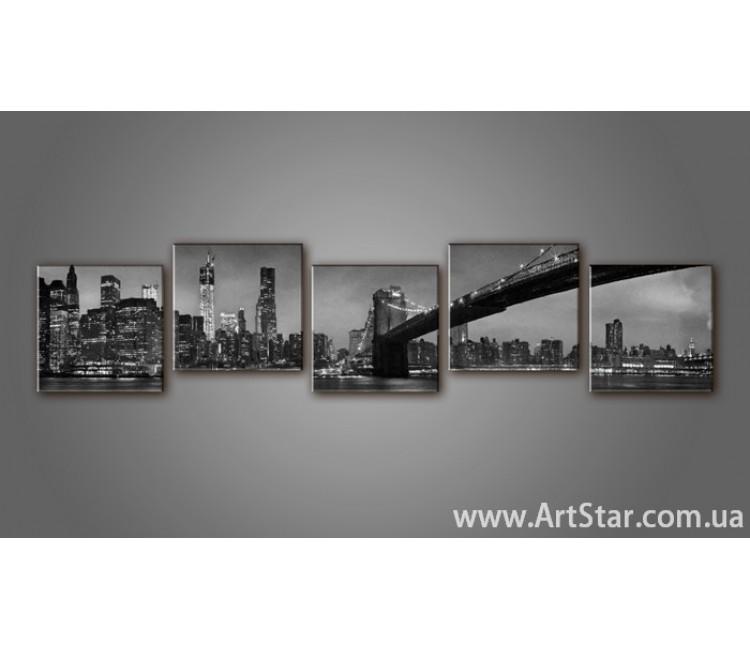 Модульная картина Бруклинский мост (5) 6