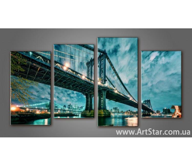 Модульная картина Бруклинский мост (4) 7
