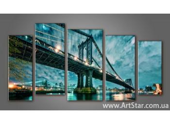 Модульная картина Бруклинский мост (5) 7