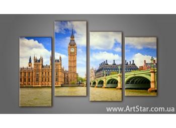 Модульная картина Панорама Лондона (4) 7
