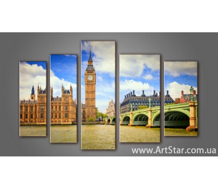 Модульная картина Панорама Лондона (5) 9