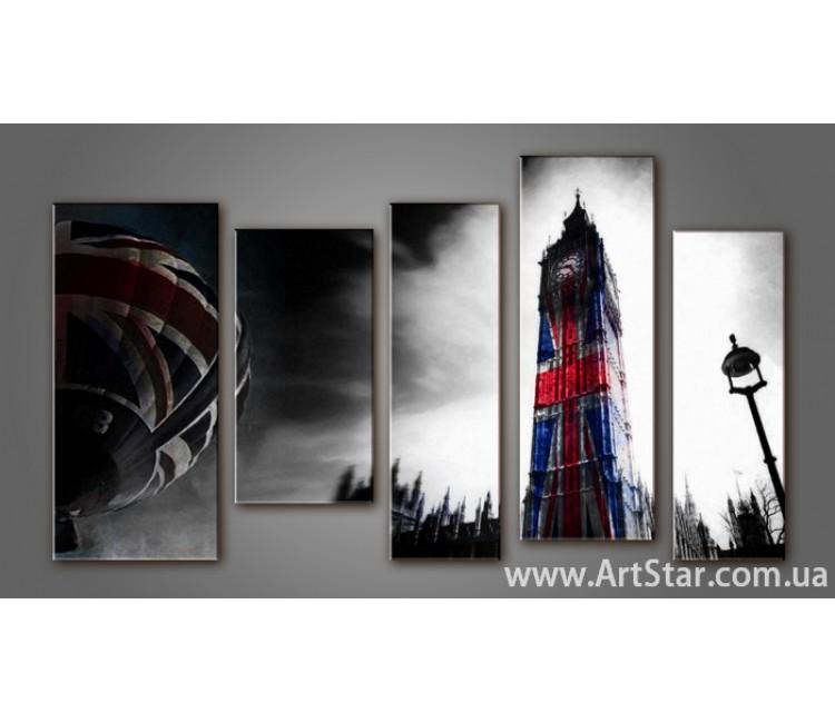 Модульная картина Панорама Лондона (5) 10