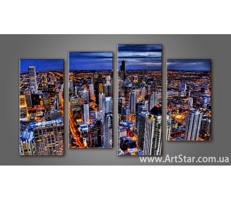 Модульная картина Панорама города (4) 10