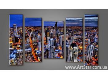 Модульная картина Панорама города (5) 10