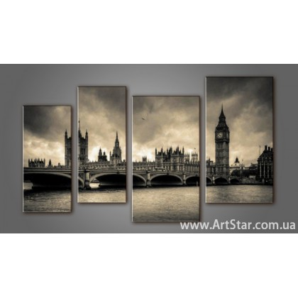Модульная картина Панорама Лондона (4) 9