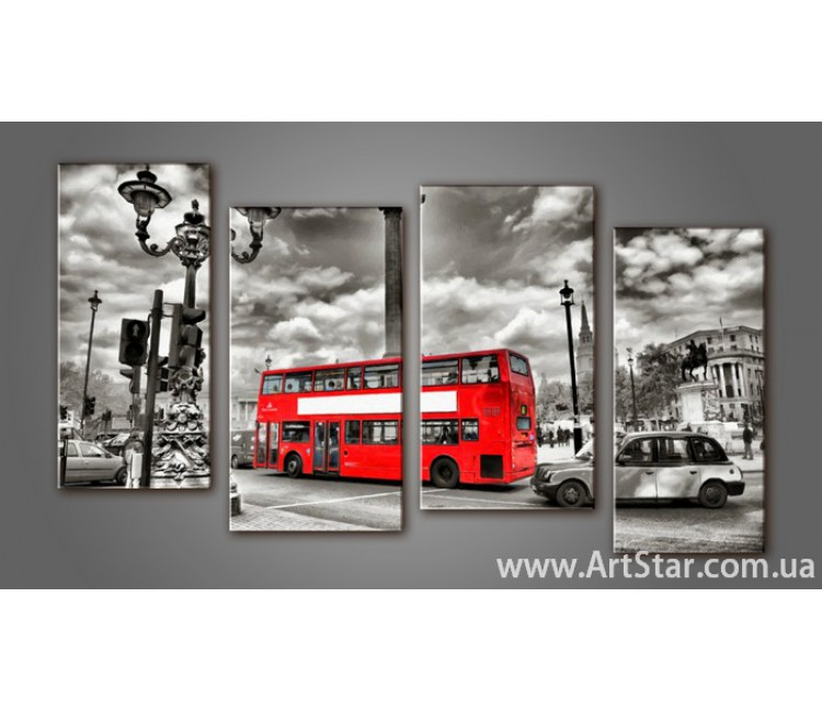 Модульная картина Панорама Лондона (4) 10