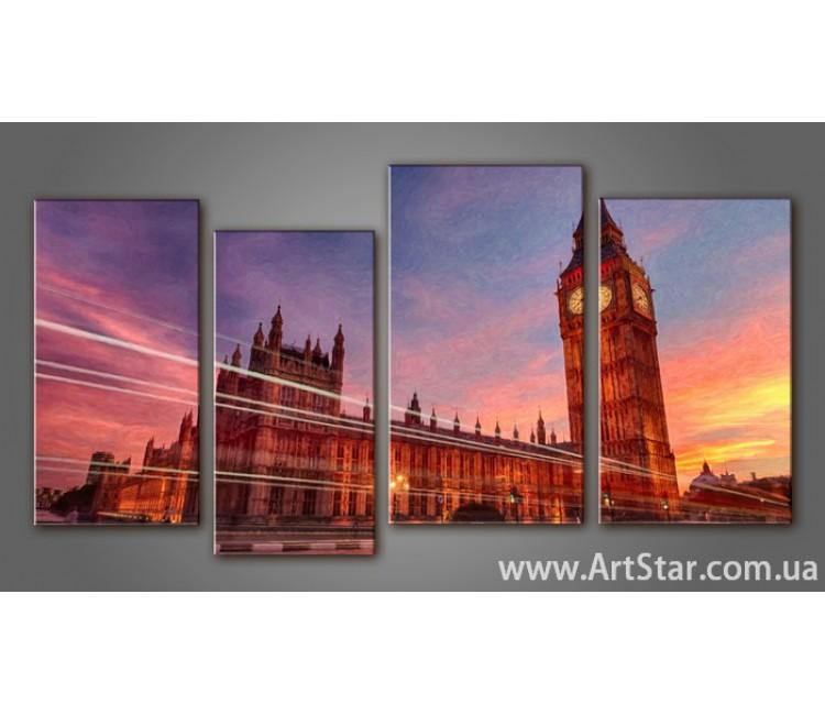 Модульная картина Панорама Лондона (4) 12